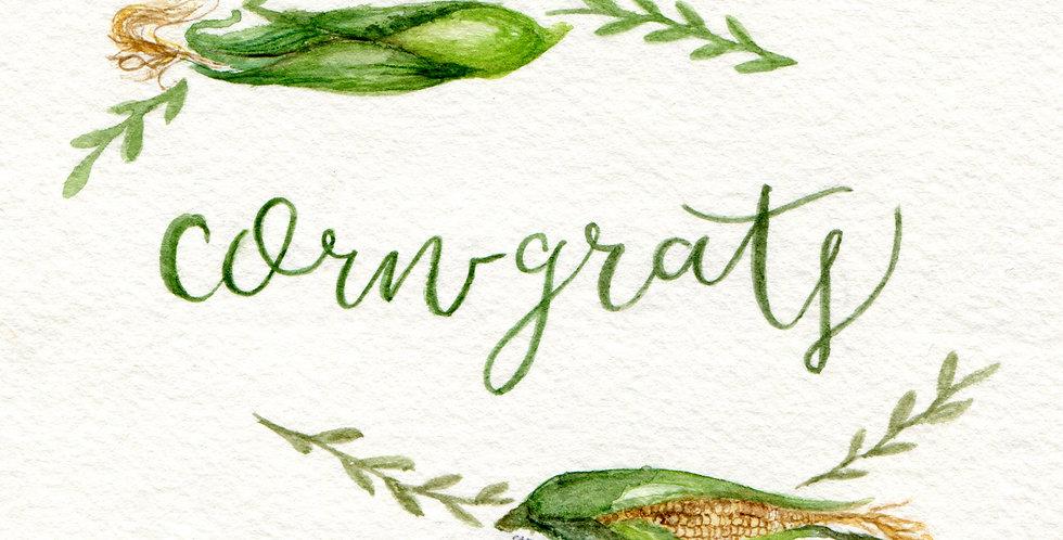 Limited Edition Corngrats card