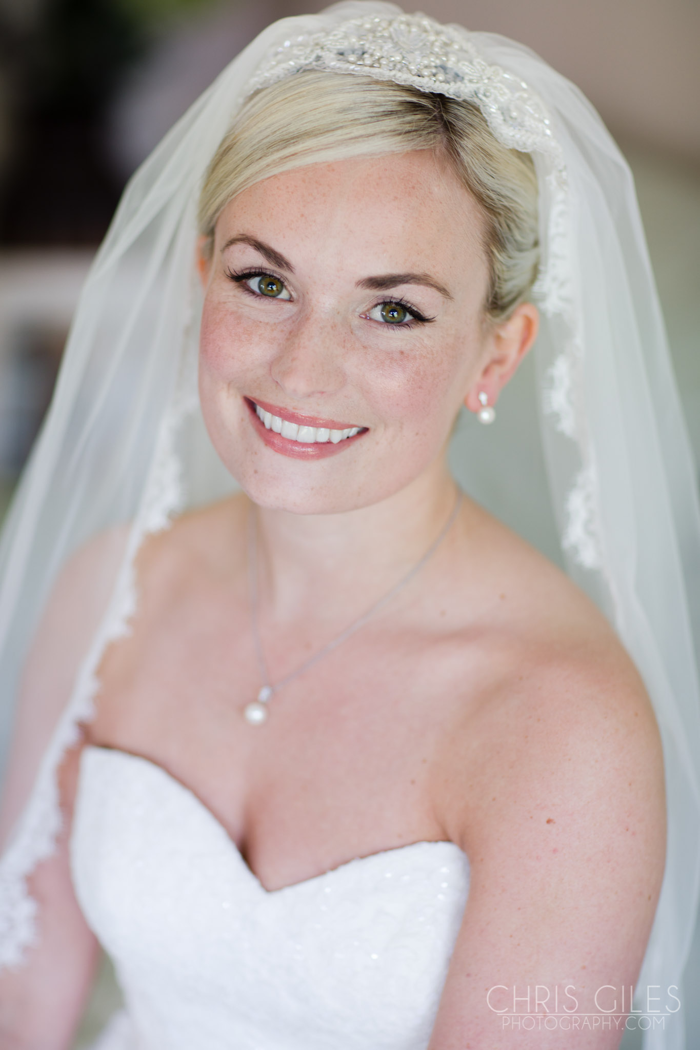 Bridal makeup at Nonsuch Mansion