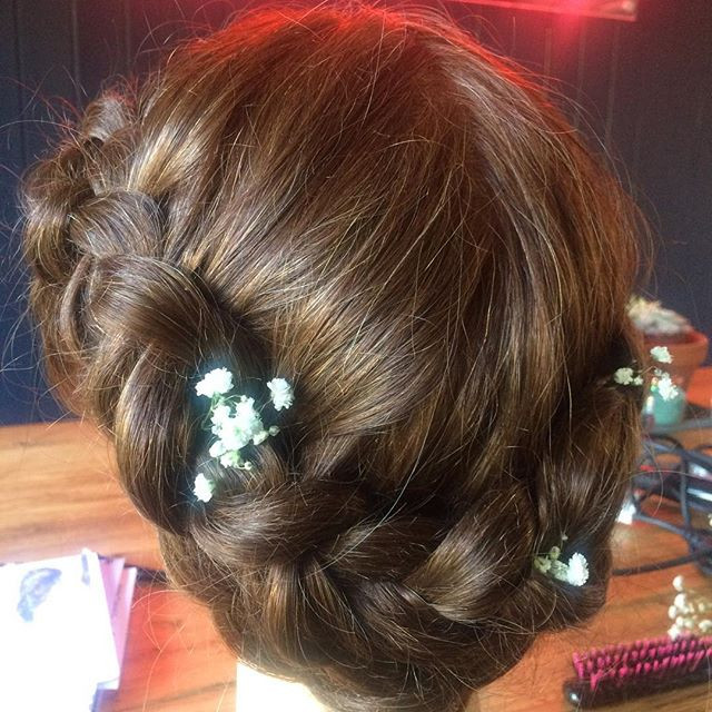 Braided up do for Brides in Surrey