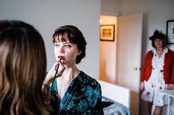 Bridal makeup Gildings Barn