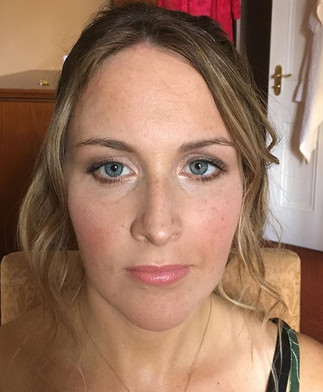 Wedding guest makeup and hair