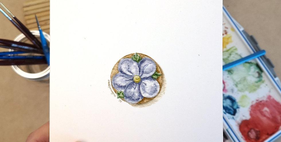Flower sugar cookie