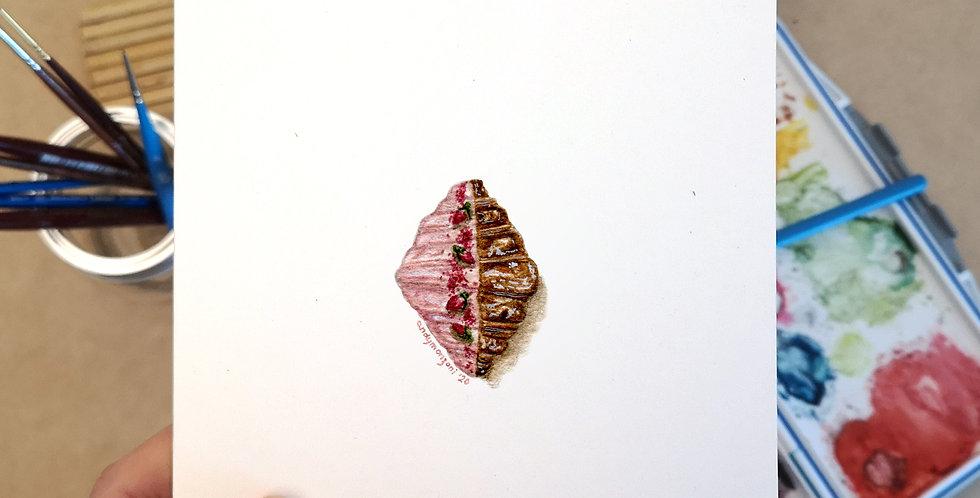 Rose Croissant Card