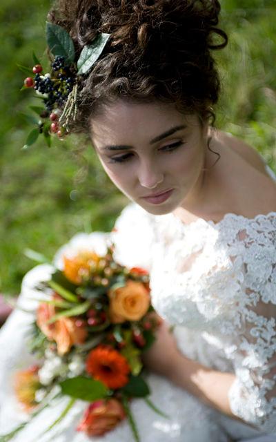 Autumn bridal Inspiration shoot