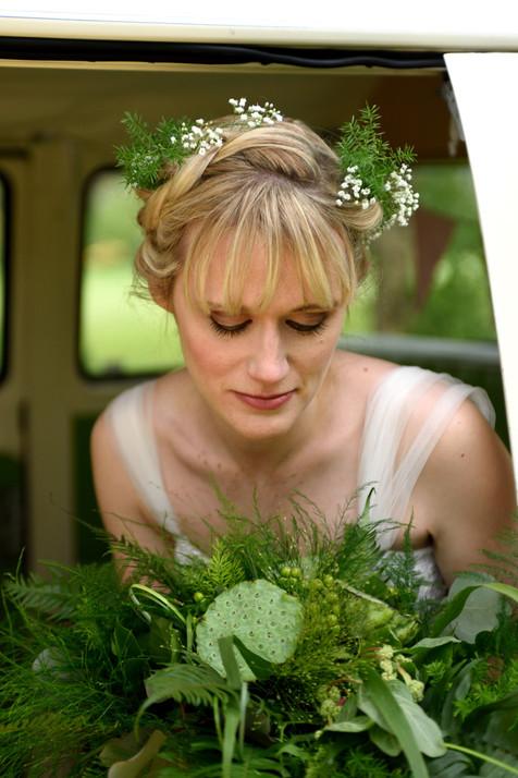 Gyp in boho bridal hair