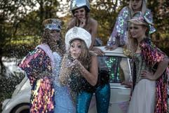 Glitter/festival weddings