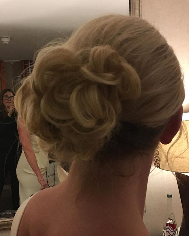 Hair up for engagment party