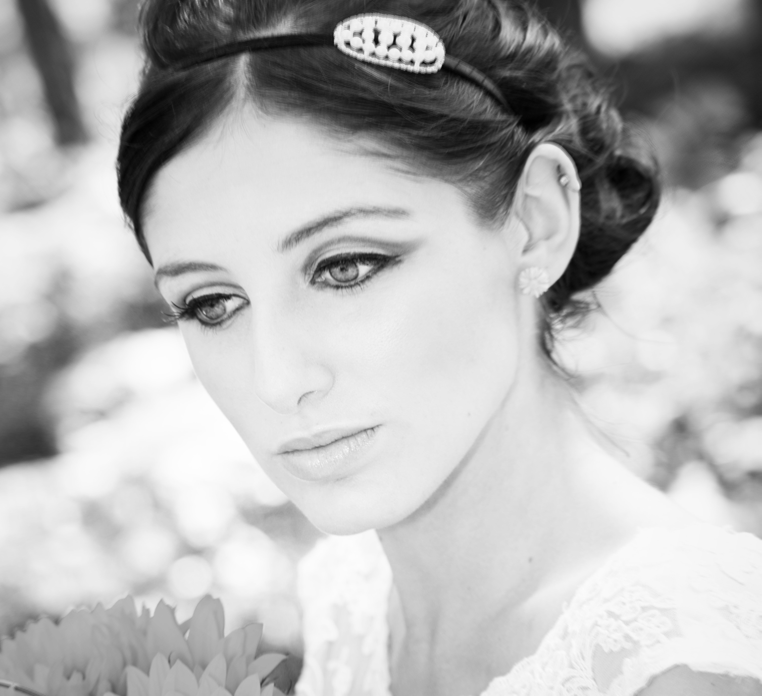 Vintage bridal makeup in Surrey