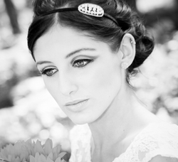 Vintage bridal makeup in Surrey