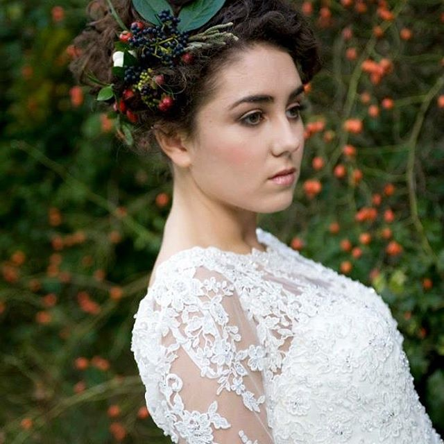 Autumn bridal makeup