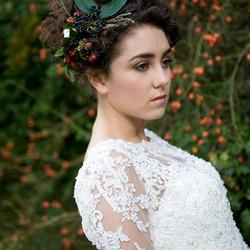 Autumn bridal makeup
