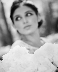 1960s bridal makeup shoot