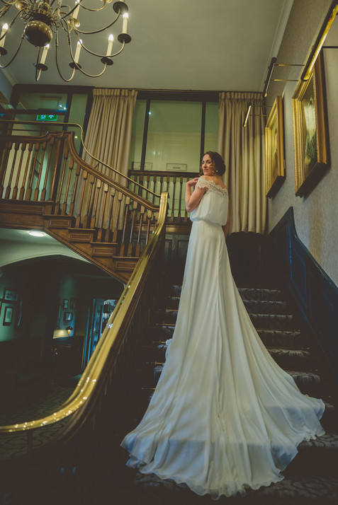 Bride by Aster Shoot - Wotton House, Dorking