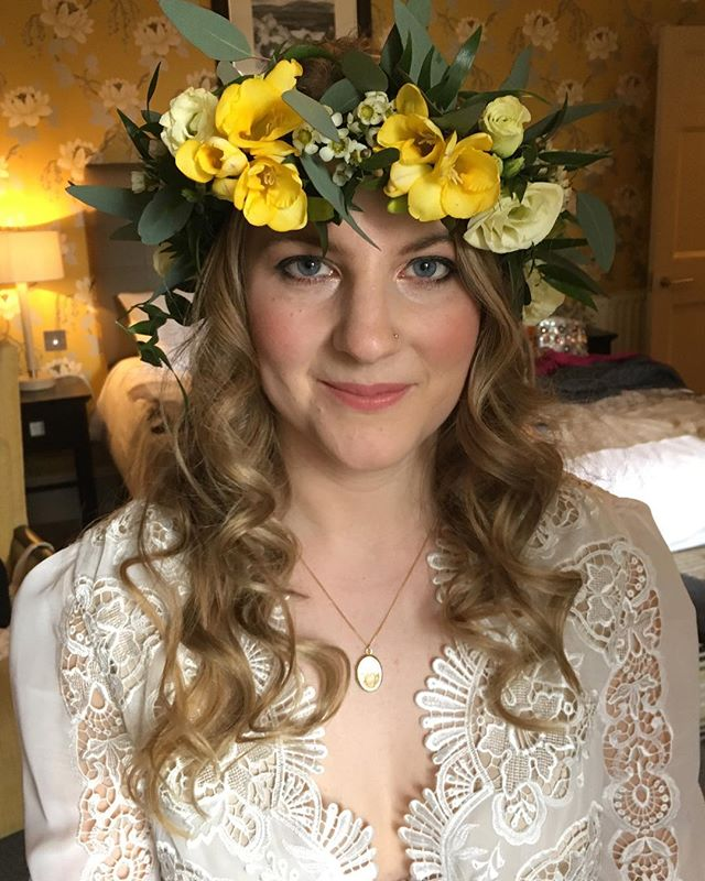 Boho bridal hair & makeup, London