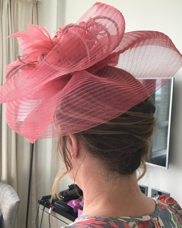 Hair up for Ascot