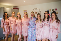 Bridesmaids makeup - Bury Court Barn