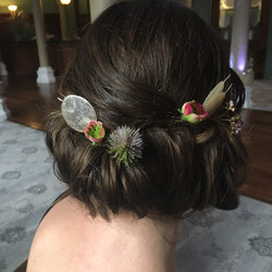 Flowers in vintage up do