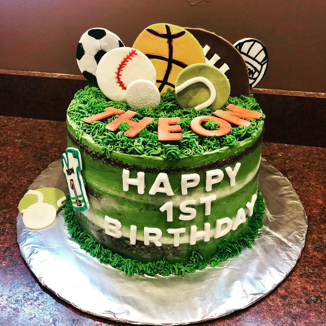 First Birthday Sports' Cake