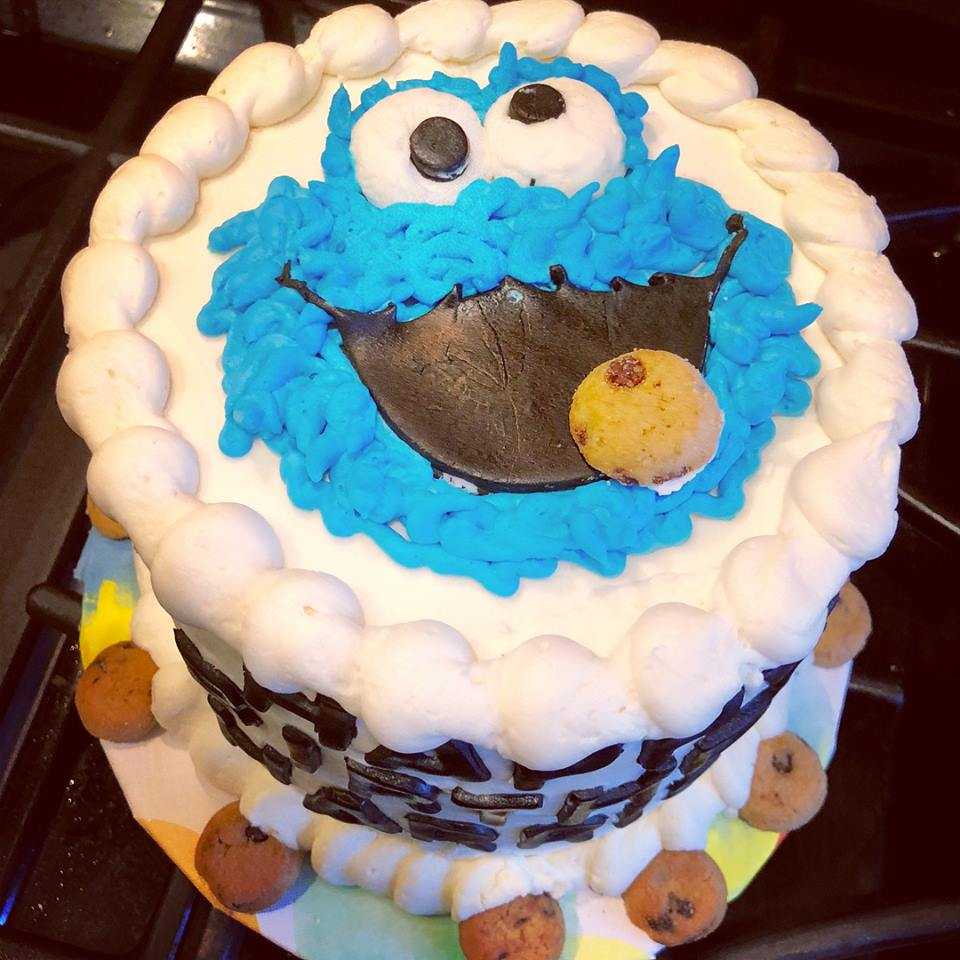 Cookie Monster Smashcake