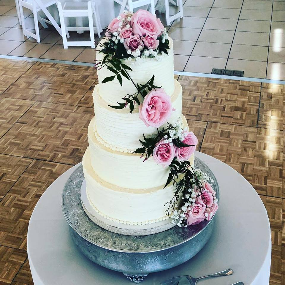4 Tier Rustic Wedding Cake