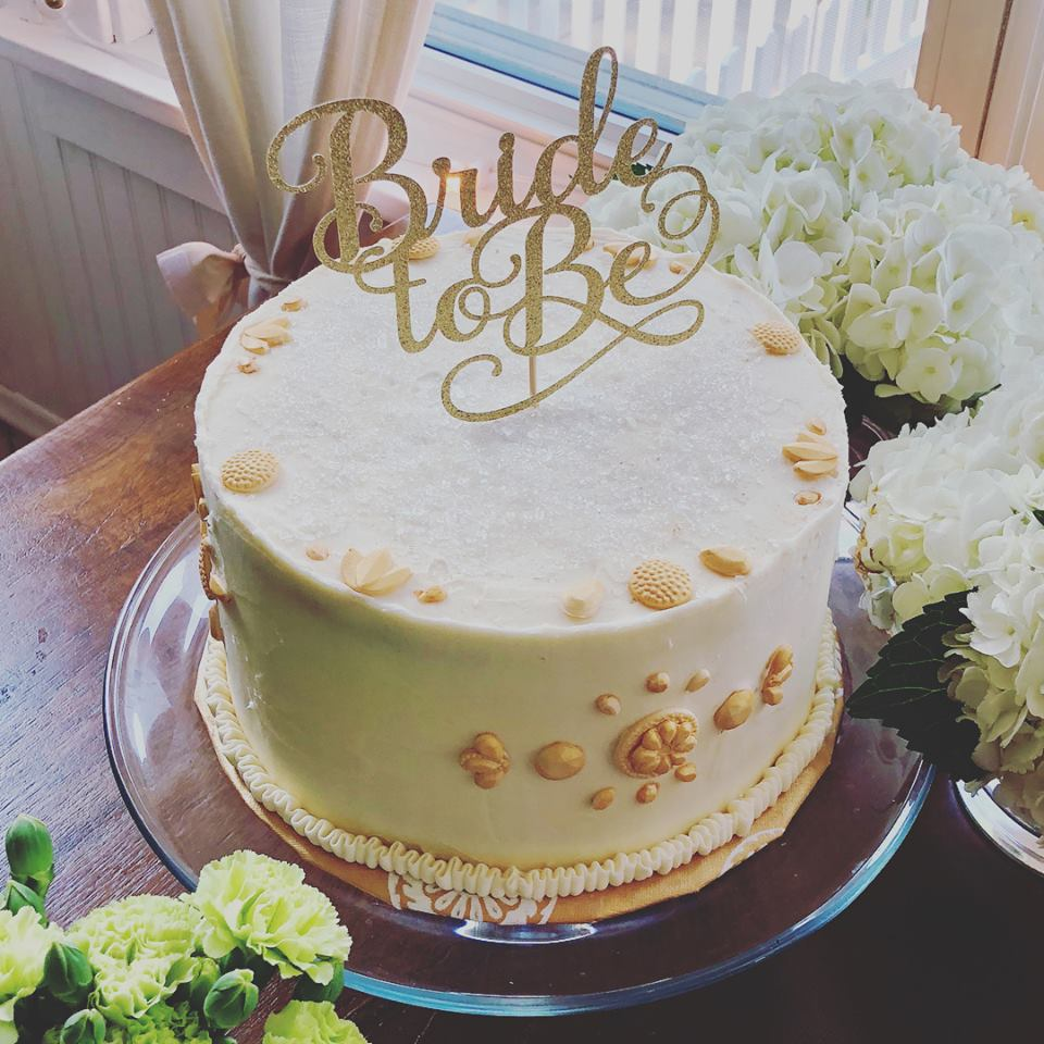 Gold and White Bridal Shower