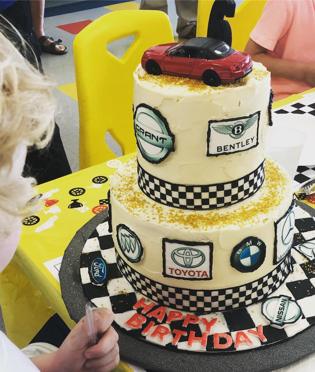 Car Logos Birthday Cake