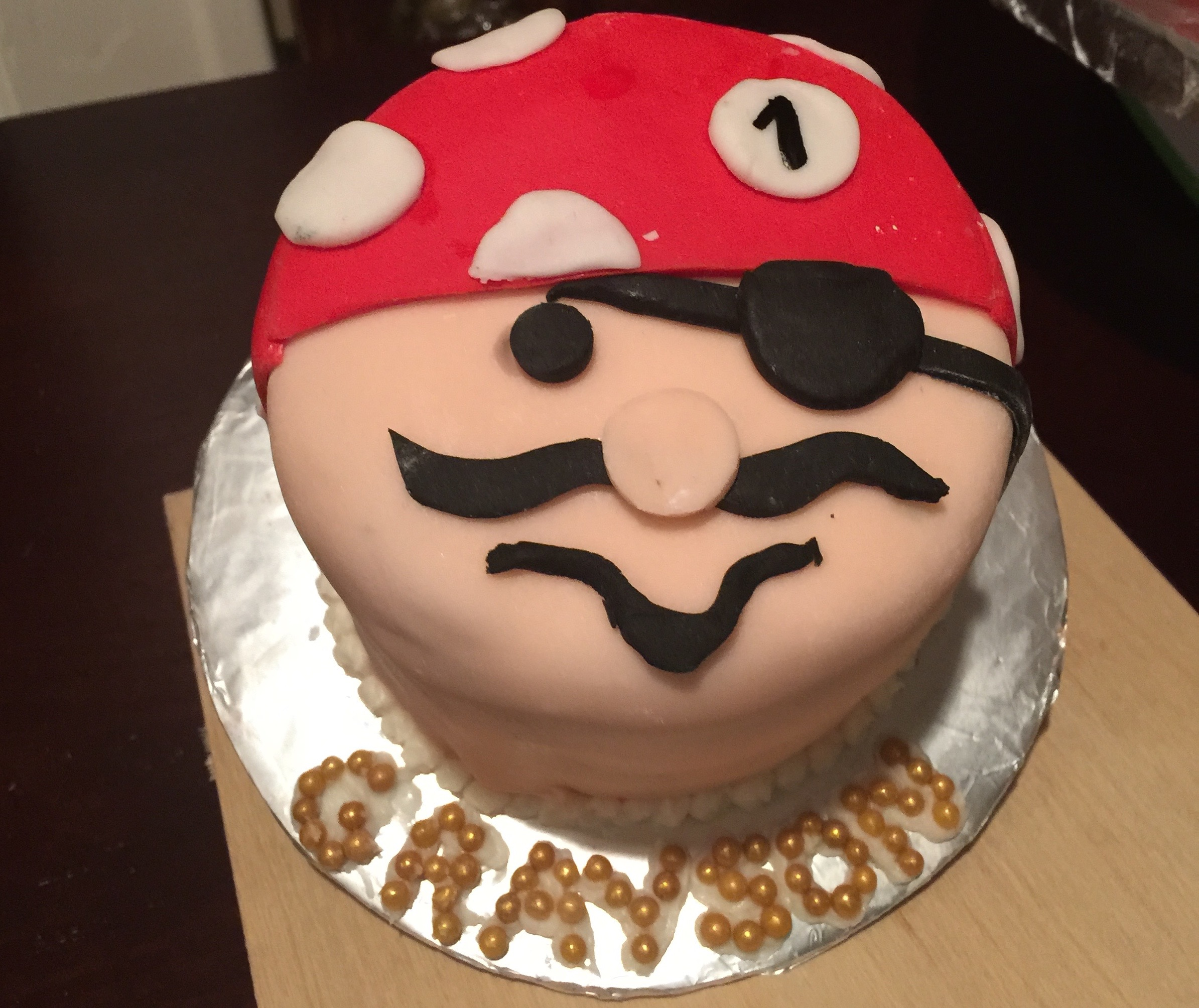 Pirate Smash Cake