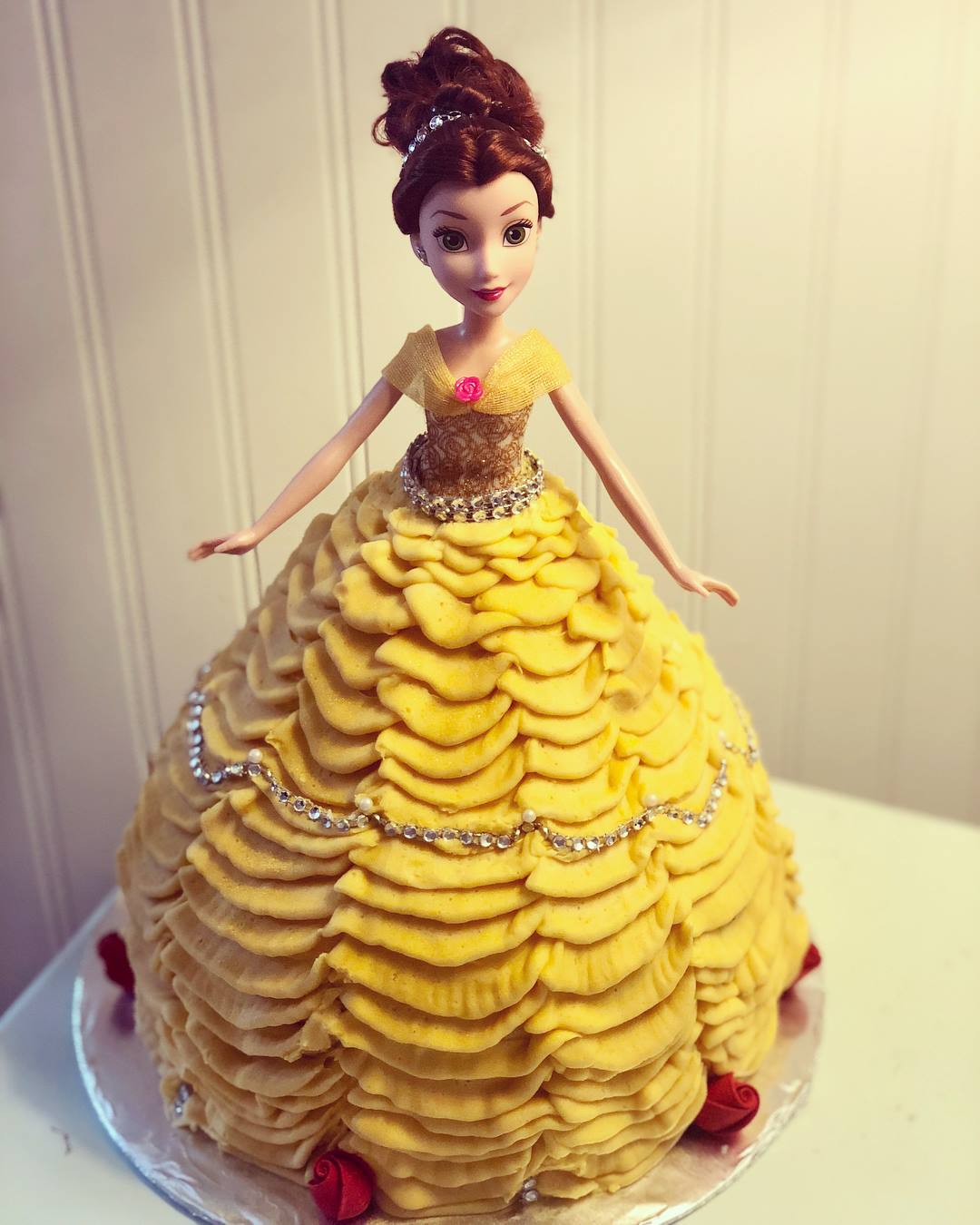 Belle Barbie Cake