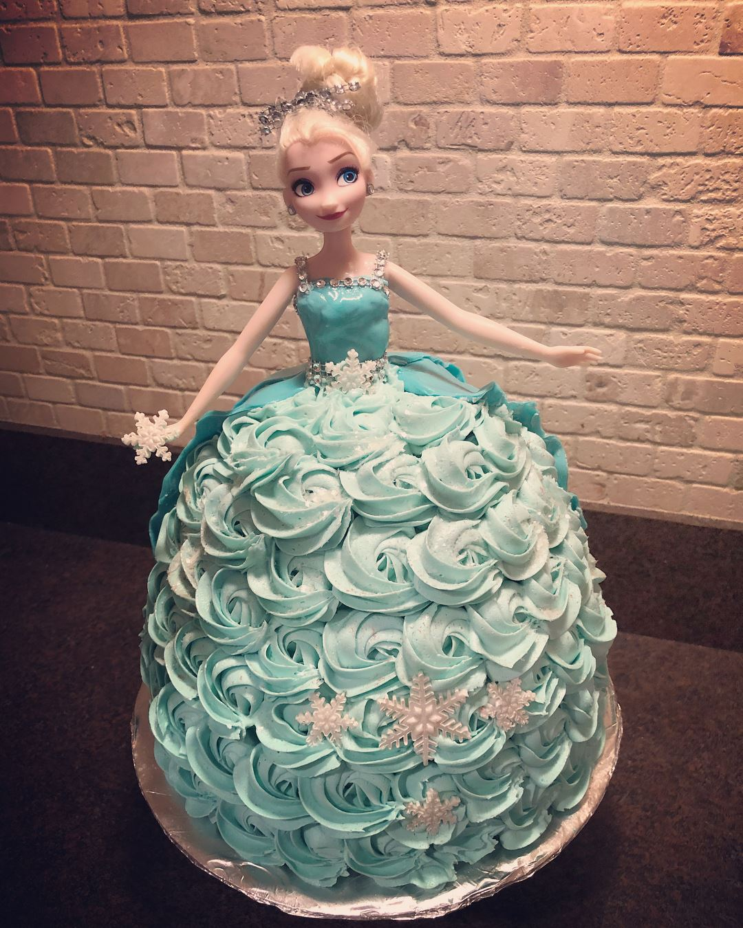 Elsa Barbie Birthday Cake