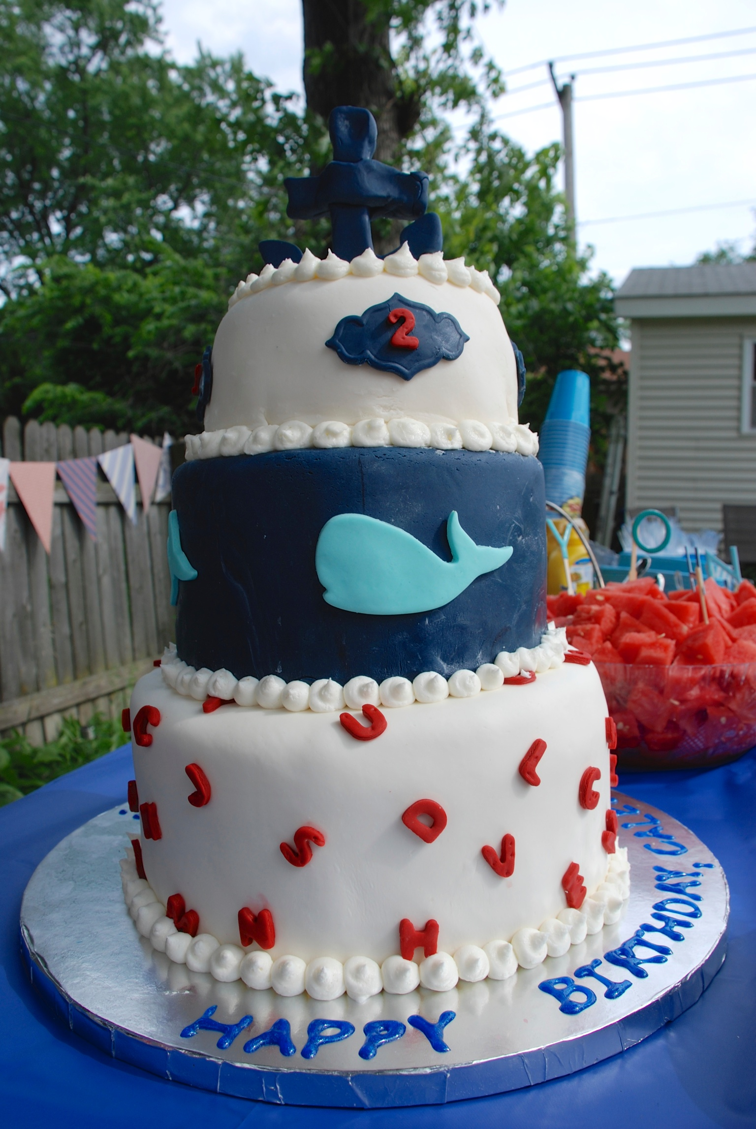 Nautical Alphabet themed cake