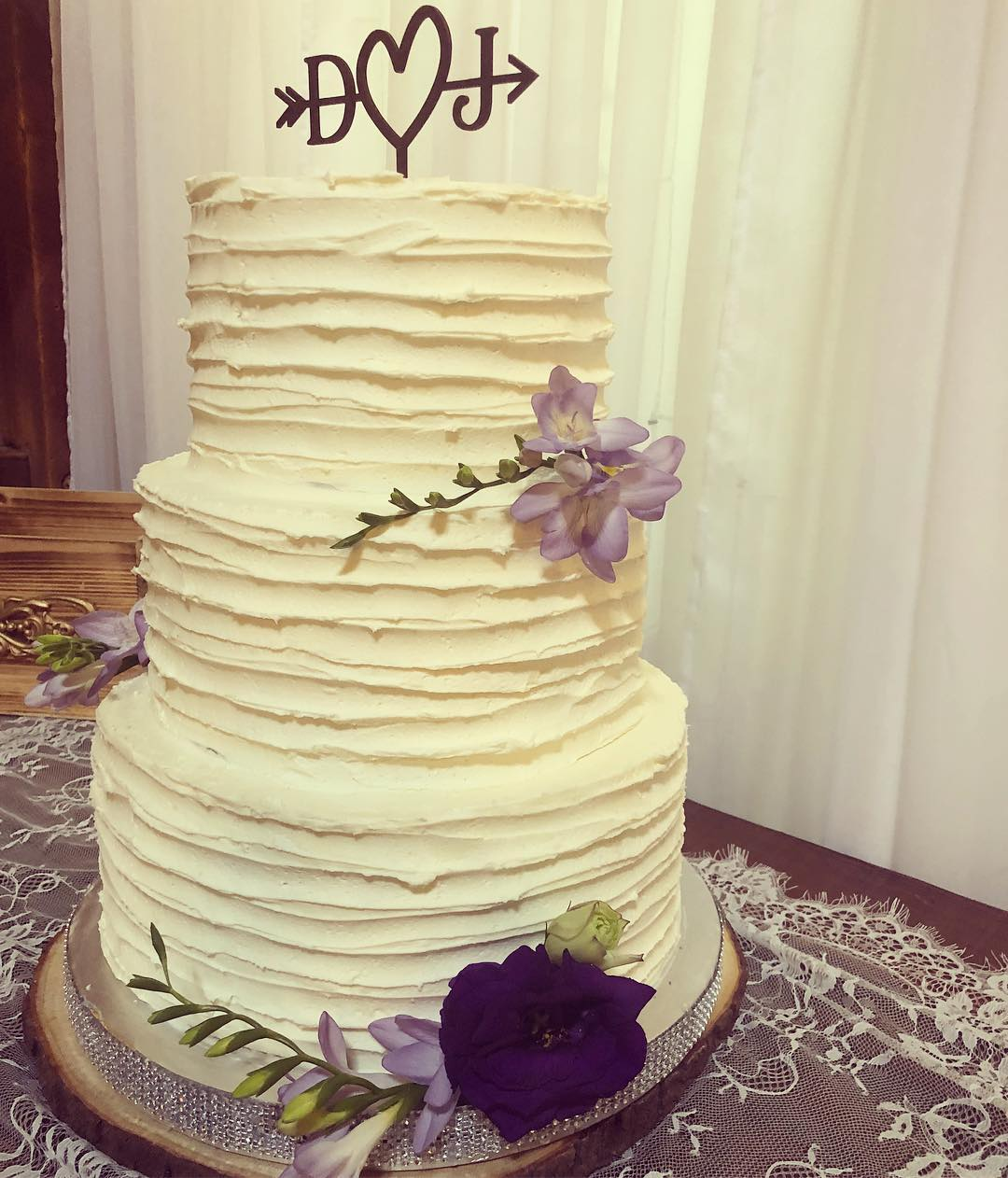 3 Tier Rustic Wedding Cake