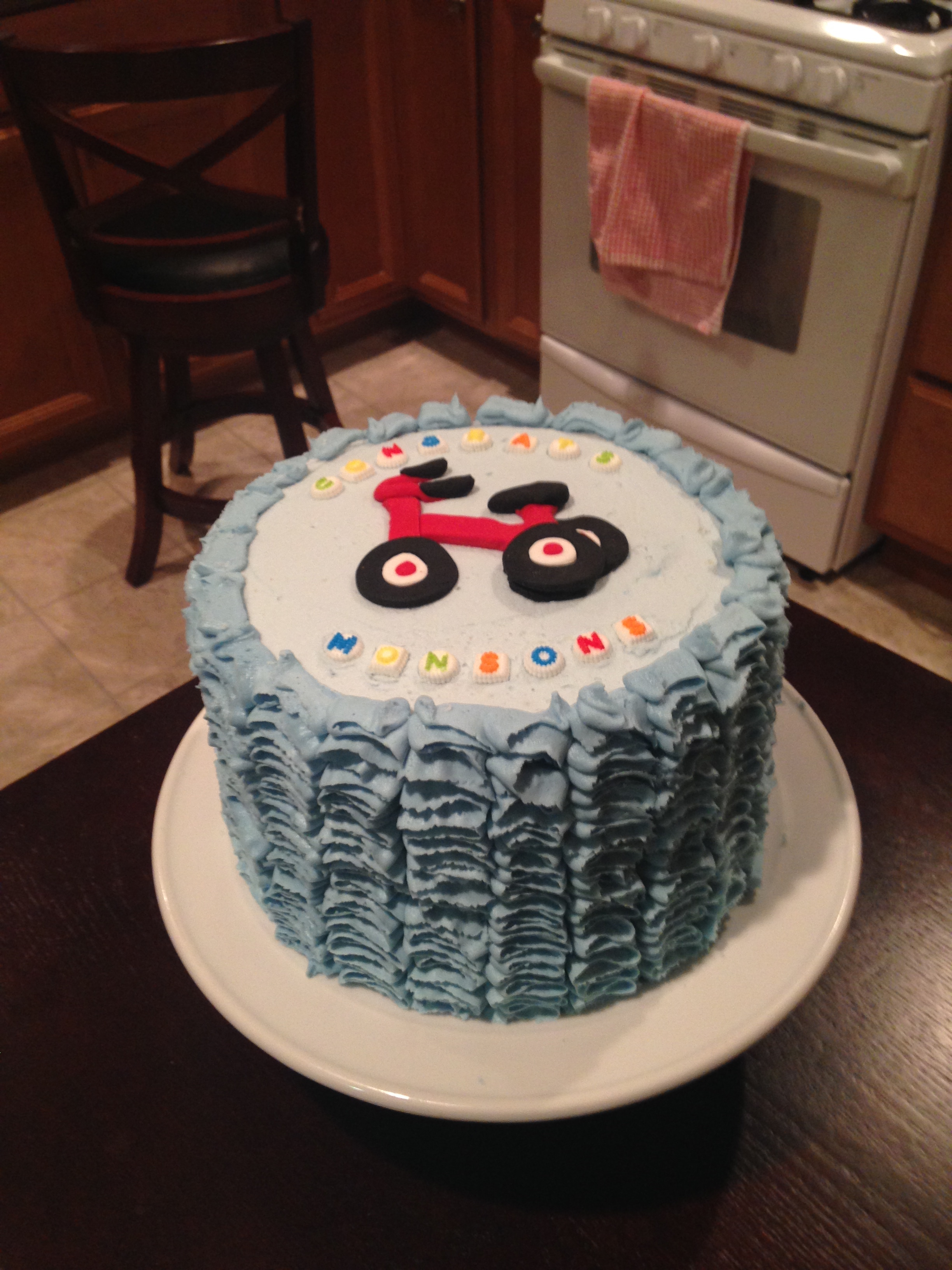 Tricycle Baby Shower Cake