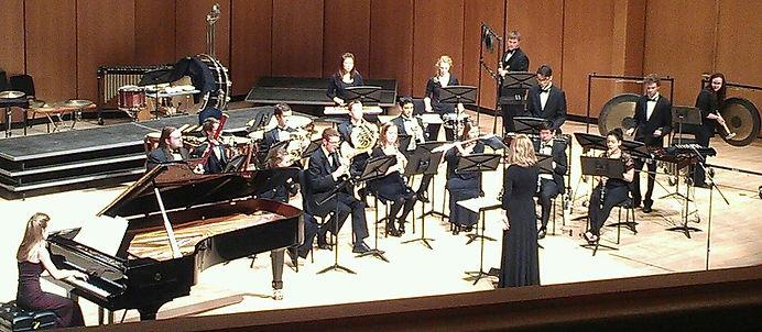 Chicago area pianist, Northwestern University Symphonic Wind Ensemble