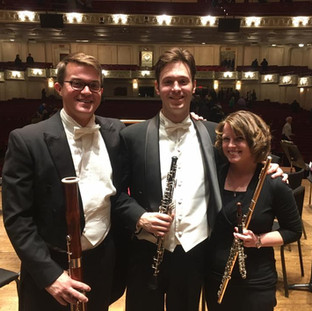 Performing with the Pittsburgh Symphony Orchestra.