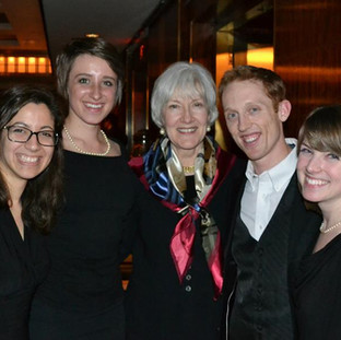 Shepherd School of Music flutes with Leone Buyse, post-concert at Carnegie Hall.