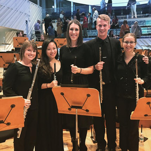 New World Symphony flutes after performing Stravinsky's Rite of Spring.