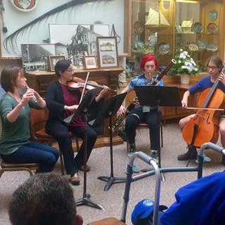 Teaching chamber music in Sitka.