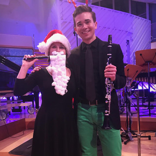 Playing in the New World Symphony's Sounds of the Season Concert with clarinetist Zach Manzi.