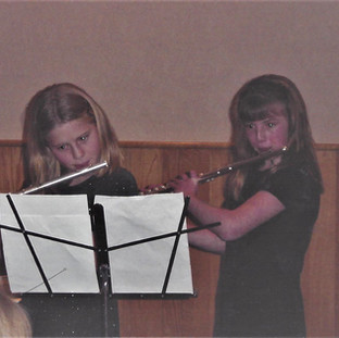 Playing duets with my cousin Melanie, circa 2001!