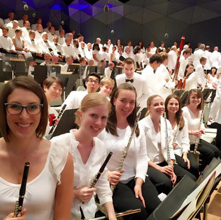 Performing Mahler Symphony No. 8 at the Tanglewood Music Center.