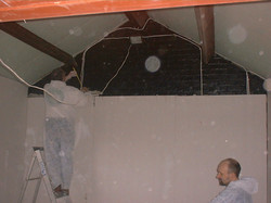 Thermal insulated plasterboarding