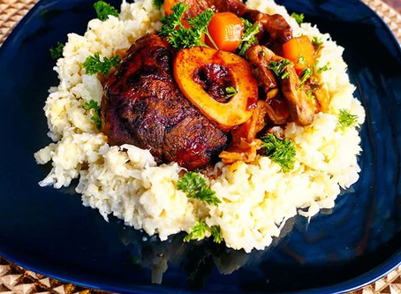 Spicy Osso Bucco with Garlic Cauliflower Smash