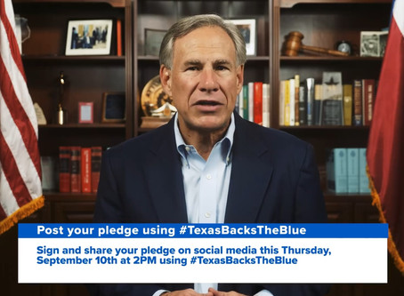Governor Abbott calls on Texans and all candidates to pledge against defunding police