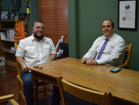 County Judge Saucedo holds meeting with PN Mayor Bres; discusses important topics