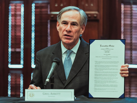 Governor Abbott issues Executive Order Prohibiting Government-Mandated Vaccine Passports
