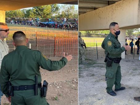 Congressman Gonzales, Senator Cruz visited Del Rio yesterday. Where's Biden?