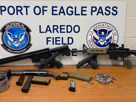 Eagle Pass CBP officers discover 3 assault rifles, ammunition hidden in charter bus