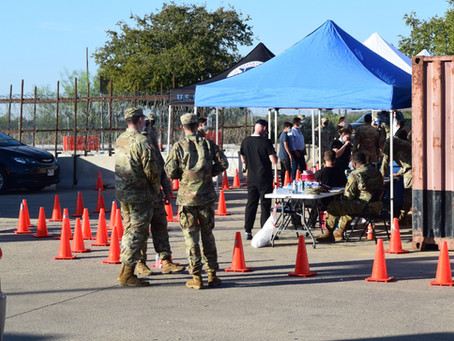 National Guard vaccinates hundreds of children from Piedras Negras at Int'l Bridge II