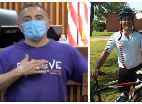 Mayor Sifuentes cycling 500 miles in support of local girl, 14, battling Leukemia, kids' cancer