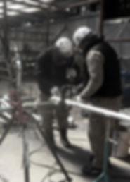 山﨑工業、技術・設備、犬成工場作業